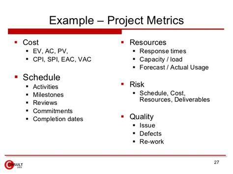 project metrics amp measures