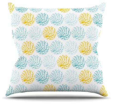 anchobee quot coralina quot teal yellow throw pillow style