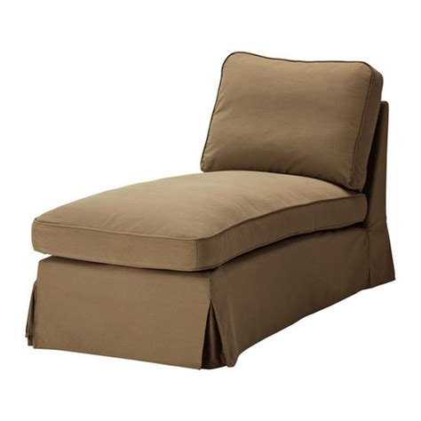 Ikea Chaise Lounge Ikea Ektorp Free Standing Chaise Cover Slipcover Idemo Light Brown
