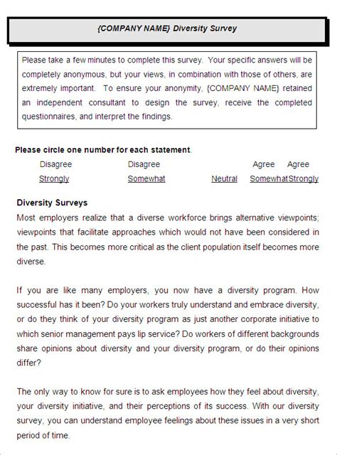 staff surveys template employee satisfaction survey templates 9 free word