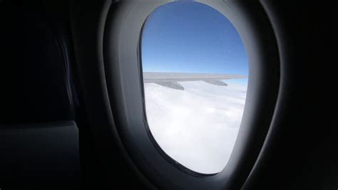 airplane window seat view airplane window from a seat stock footage 3791126