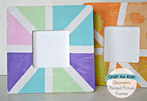 craft photo frames for the of geometric painted picture frame