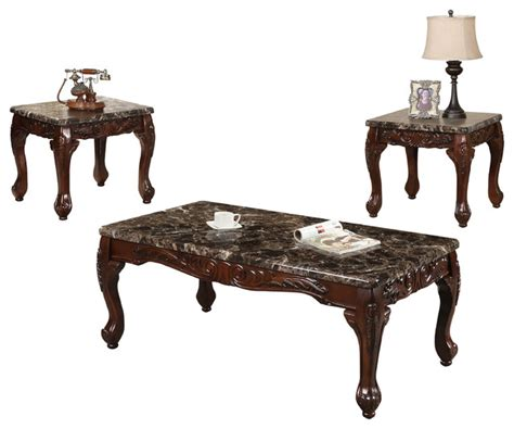 Traditional Coffee Tables And End Tables All In One Furniture Traditional Coffee Table With 2 End Tables 3 Set View In Your