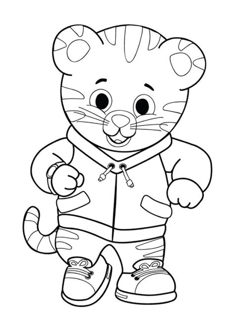 daniel tiger coloring pages print coloring image daniel tiger daniel tiger birthday