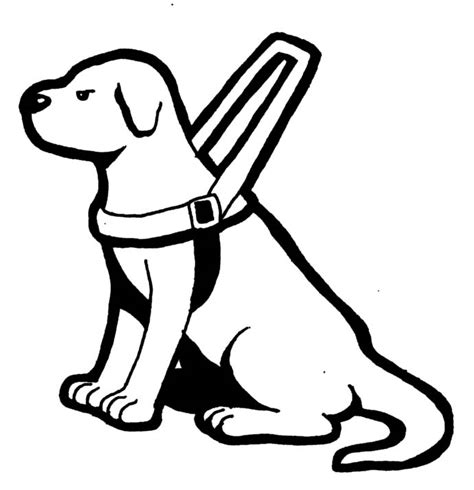 coloring pictures of guide dogs free clip cliparts co