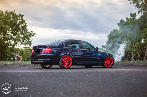 red bmw e46 bmw e46 3 series hops on red shoes in bali autoevolution