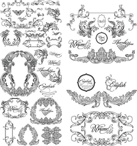 free baroque design elements vector vintage baroque frames vector vector graphics blog