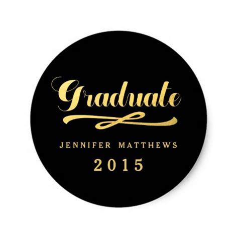 printable graduation stickers gold foil glamor graduation sticker zazzle