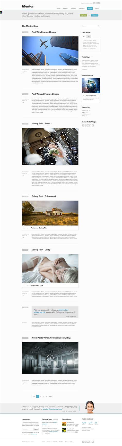 theme forest list mentor premium responsive html5 wordpress theme by