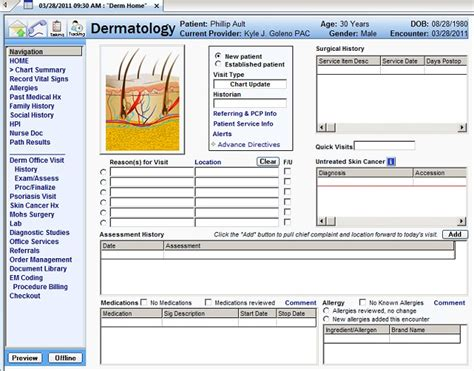 nextgen dermatology templates not standardized with look