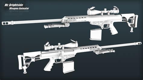 barrett m98b barrett m98b models gt guns gt sniper rifles gamebanana