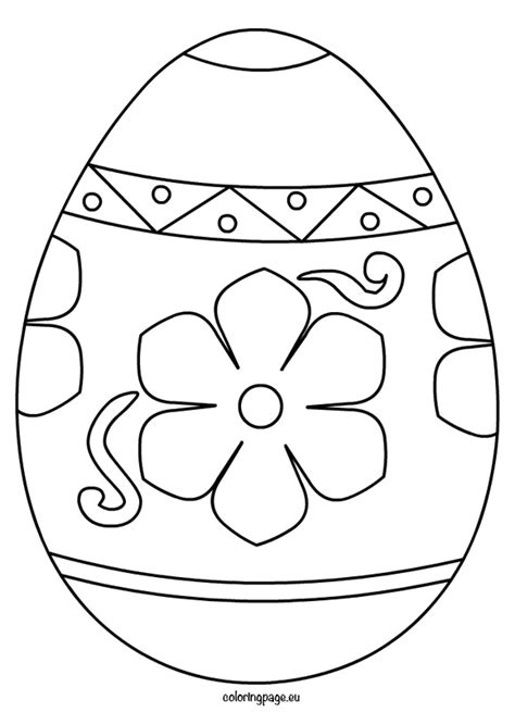 easter egg coloring page template free easter egg coloring