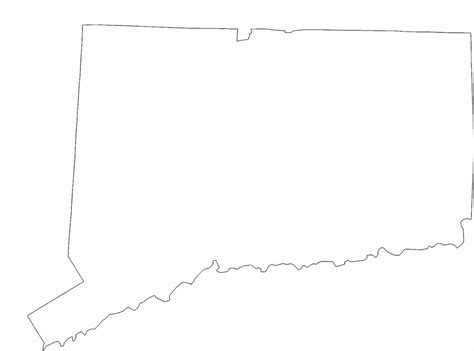 map of us states coloring page connecticut state outline map free