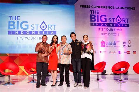 blibli entrepreneur blibli com dan bekraf membuat quot the big start indonesia
