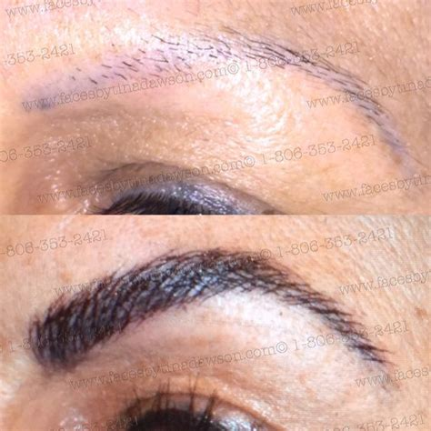 eyeliner tattoo amarillo tx microblading before and after by tina dawson pinterest