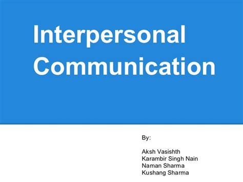 interpersonal communication research paper interpersonal communication research paper topics gmat