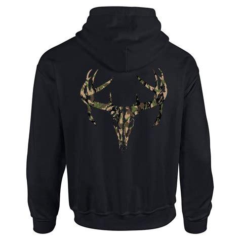 Zipper Hoodie camo deer skull camouflage zipper zip hoodie hooded
