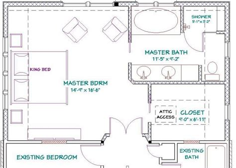 1 S Addition Floor Plans - master bedroom addition floor plans with fireplace free