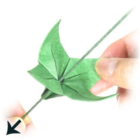 How To Make Stems For Paper Flowers - new origami flower with stem origami