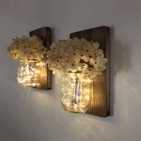 jar wall light jar lights wall sconce set of 2 industrial by
