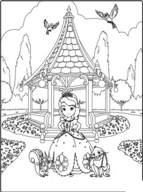 Coloriage A Imprimer Princesse Sofia Et Ses Amis Au Parc