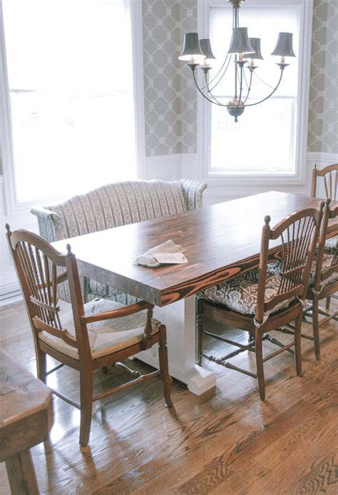 Dining Room Furniture Ideas Butcher Block Style Farmhouse Table Solid Wood Top And