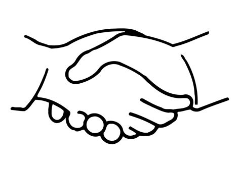 handshake coloring page coloring page shake hands img 11321