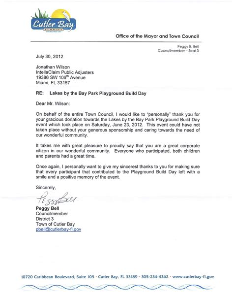 Letter For An Event 187 Miami Adjuster Helps Sponsor New Playground Build Day In Cutler Bay