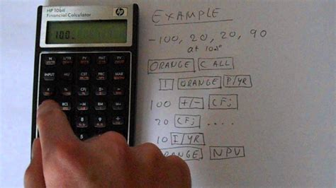 exp infinity value hp 10bii financial calculator npv calculation
