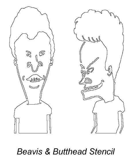 beavis and butthead free coloring pages