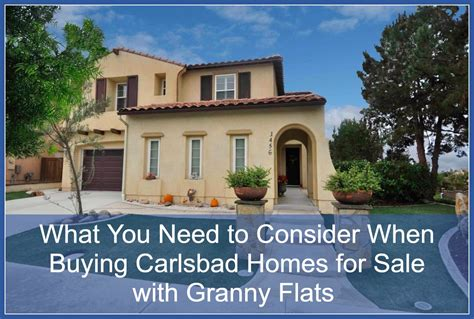 carlsbad homes for sale with flats
