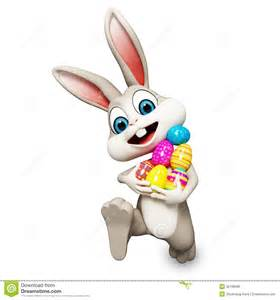 Easter bunny running with ages royalty free stock photos image