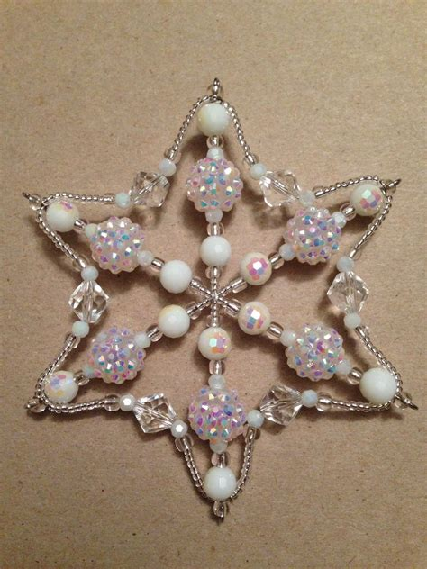 how to make a beaded snowflake 1000 images about beading ornaments jewelery