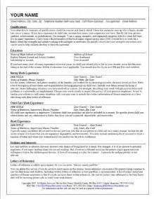 Exles Of Nanny Resume by Nanny Resume Cv Resume Templates Exles