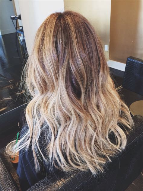pictures of brown and blode ombre hair my blonde light brown ombr 233 hair with beach waves
