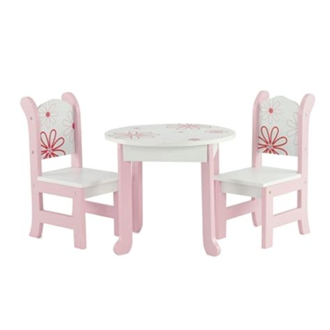 american doll table and chairs 18 inch doll furniture table and chairs with floral