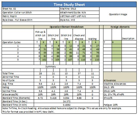 time motion study excel template study timetable template for high school students 1000