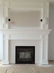 tiled fireplace surrounds subway tile fireplace surround flourish design style