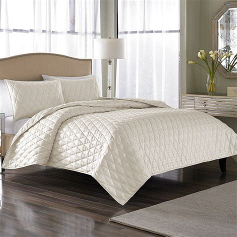 nicole miller comforter set nicole miller serenity pearl coverlet set from