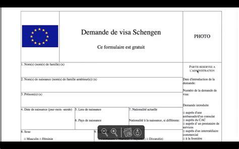 Model De Demande De Visa Court Sejour remplir formulaire visa court s 233 jour espagne alg 233 rie