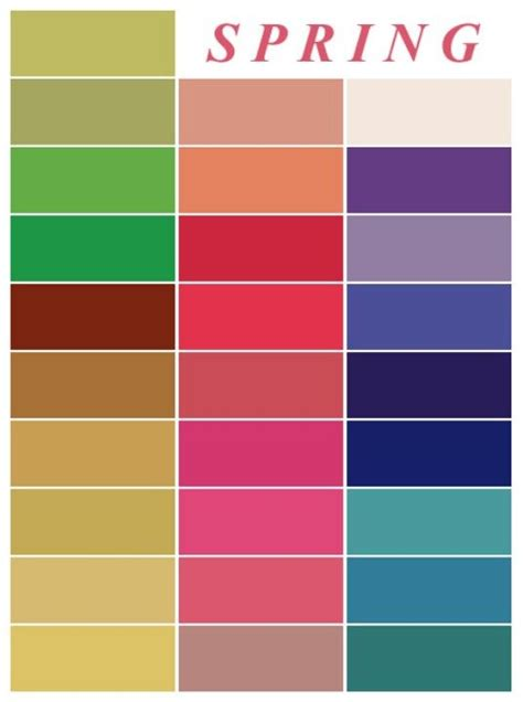 spring color palette 17 best images about color me beautiful on pinterest