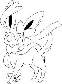 Coloring pages pokemon sylveon drawings pokemon