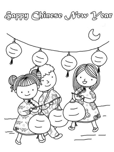 chinese  year coloring pages  printable chinese
