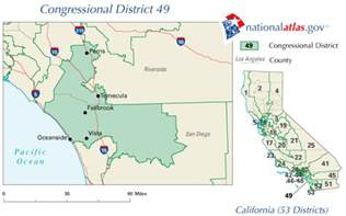 california 49th congressional district map california 49th congressional district rep current 110th