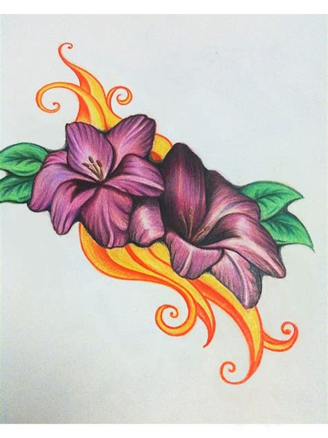 easy colorful drawings easy colored pencil drawings of flowers all the gallery