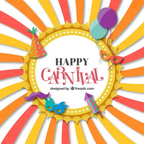 Funny Carnival Card Vector Free Download Carnival Free