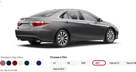 2015 toyota camry xle colors 15