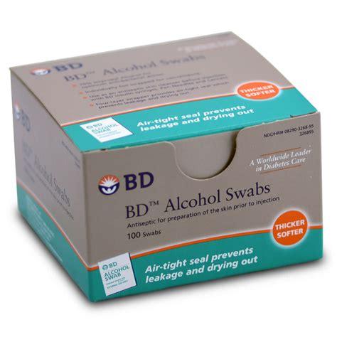 Swab Bd Bd Swabs Box Of 100 Ct Diabetessupplies4less
