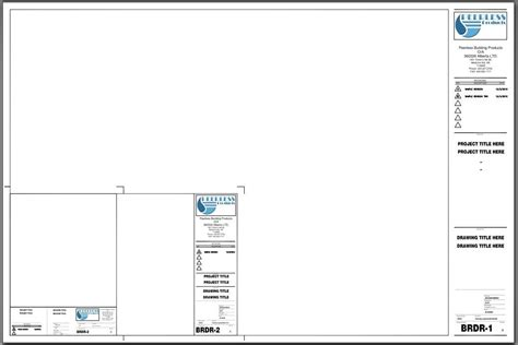 create professional title page for building envelope