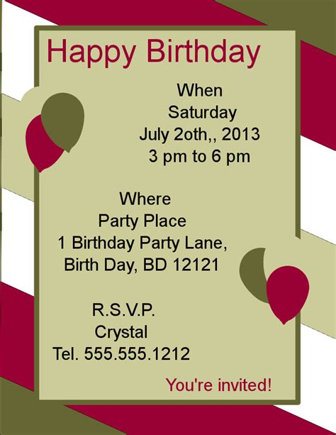 birthday flyer template word happy birthday flyer template